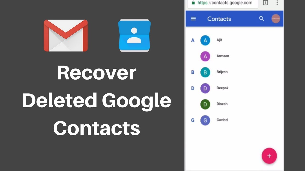 How to Restore Lost Gmail or Google Contacts
